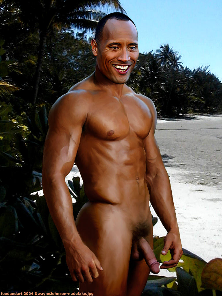 naked pictures of dwayne johnson